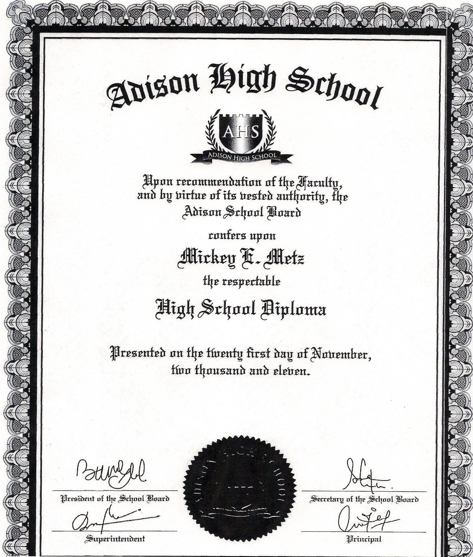 diploma high school