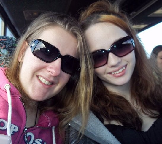 Kayla Jarvis Glenville State College student on the left with a girlfriend, normally their future would be so bright they would have to where shades, but not at GSC, since history has proven time and time and time again that ....No FEMALE is Safe at the FRIGHT HOUSE on the hill !!