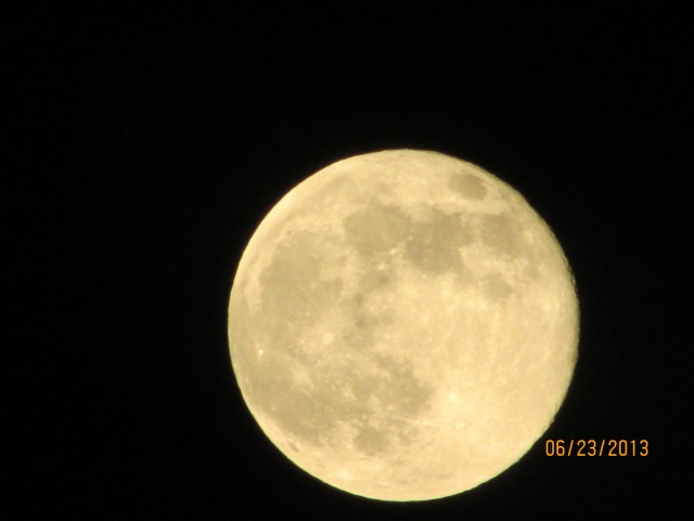 The giant Super Moon from the Hills (Photo by Shelia Butler)