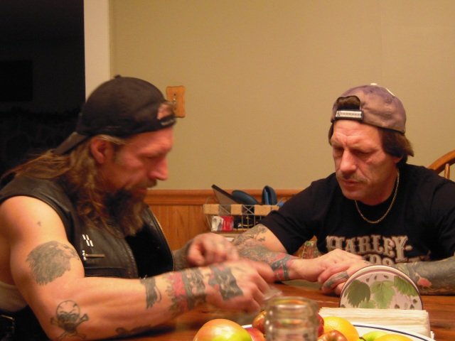 Allen and Mark Cottrill, men to be feared from a well known Biker gang! They are rolling up some big joints for the West Virginia Council of Concerned Citizens ...nah, they are not gonna share any of that good dope with us troops in the field, or any of their HOT BIKER CHICKS in New York where they had a huge BIKER PARTY to celebrate the 3rd anniversary of the death of Willard Cottrill in which they disliked Judge Alsops decision so much they sold 42 acres for 40,000 and it was more at least 200,000 to Mr Neal from Weston. The estate was not settled and if Jean Butcher the Commission Clerk thinks she is gonna sign a deed over, well then good citizens of Gilmer County will see her in JAIL for it along with Commission President Brian Kennedy. Damn boys next time bring some of that good weed for some of us poor folk stuck back up in these hills and we can only get the weed the Sheriffs office sells from the evidence room ...damn!