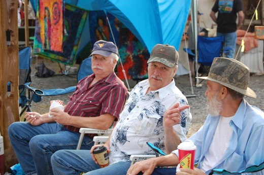 (L-R) Melvin, Jerry, and Willard at WV State Folk Festival