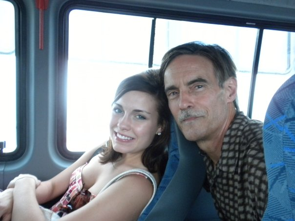 Gerald B Hough with daughter Carly Hough who brought the hard booze on the bus to the State High School Volley Ball tournament in Charleston - the overnight party full of SEX and debauchery!  Contributing to the delinquency of minors is not against the law when your DAD is the prosecutor.