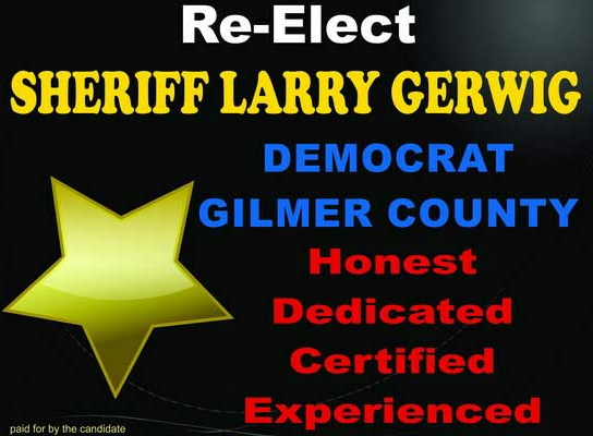 "Larry Gerwig started lying on the stand which can be proven as far back as the famous ""Travesty of Justice,"" when he said OLD USED RUSTED FARM EQUIPMENT purchased in 1980 was BRAND NEW and worth thousands of dollars! What a fucking LIAR Gerwig was then, and what a fucking LIAR Gerwig is now. On that same case he let Roanna Rafferty from Cocoa Beach FLA come to court and like about owning 1/6th of 112 acres of surface property near the Calhoun County line, Metz, and Gerwig worked with the County Clerk to HIDE THE DEED from the courts to COVER UP THE LIE, the TRUTH is out now but JUDGE FACEMIRE doesn't want the truth to get out for the truth would come out about him too!!! He rigged that case like a bitch!!! NO to Sheriff Gerwig being Sheriff"