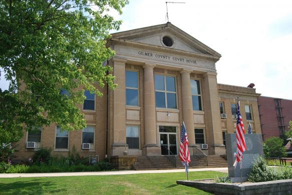 Gilmer County Courthouse the meeting place for the CROOKS from CROOKED COUNTY that live down by the CROOKED RIVER...